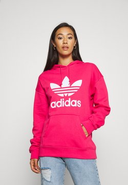 adidas Originals - ADICOLOR TREFOIL ORIGINALS HODDIE - Hoodie - power pink/white