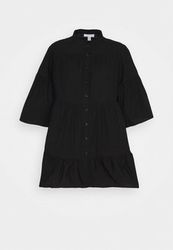 Topshop - TIERED POP BLOUSE - Camicia - black