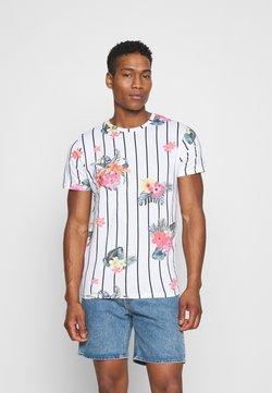 Brave Soul - CATTLEYA - T-shirt z nadrukiem - optic white