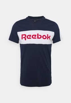 Reebok - GRAPHIC TEE - Camiseta estampada - vecnav/white