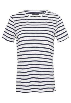 Superdry - ORANGE LABEL CREW NECK TEE - T-Shirt print - navy stripe