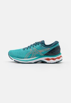 ASICS - GEL-KAYANO 27 - Zapatillas de running estables - techno cyan/sunrise red