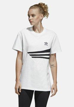 adidas Originals - T-Shirt print - white/black
