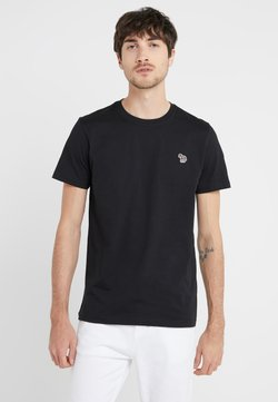 PS Paul Smith - SLIM FIT ZEBRA - T-Shirt basic - black
