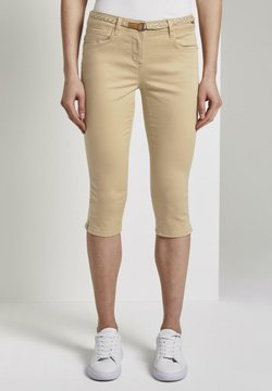 TOM TAILOR - Shorts - cream toffee