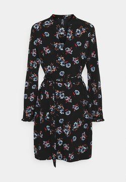 Pieces - PCLUNILLA DRESS  - Paitamekko - black
