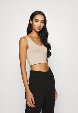 KENDALL + KYLIE - V NECK CROP - Top - beige