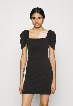 Miss Selfridge - PUFF SLEEVE MINI DRESS - Sukienka etui - black