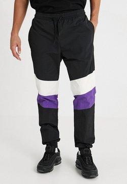 Urban Classics - CRINKLE TRACK PANTS - Jogginghose - black/white/ultraviolet