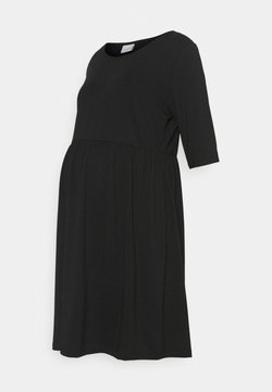 Mamalicious Curve - MLELNORA 2/4 SHORT DRESS - Sukienka z dżerseju - black