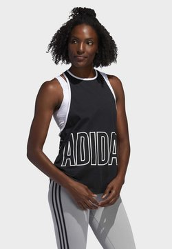 adidas Performance - ALPHASKIN GRAPHIC TANK TOP - Toppi - black