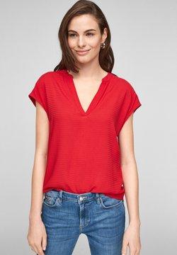 s.Oliver - KURZARM - T-Shirt print - red