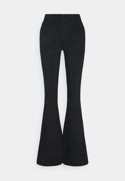 J Brand - VALENTINA HIGH RISE FLARE - Bootcut jeans - eco seriously black