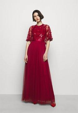 Needle & Thread - SEQUIN RIBBON BODICE MAXI DRESS - Ballkjole - deep red