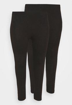 Even&Odd Curvy - 2 PACK - 7/8 LENGHT LEGGING - Leggings - Hosen - black