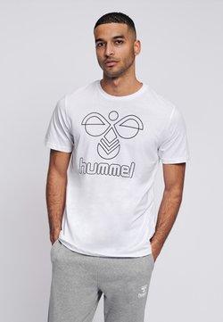 Hummel - HMLPETER  - Printtipaita - white