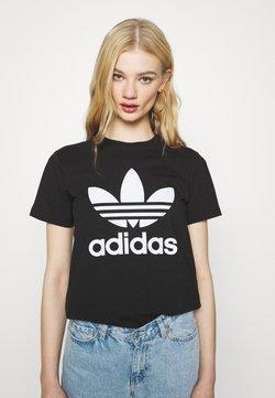 adidas Originals - TREFOIL TEE - Printtipaita - black