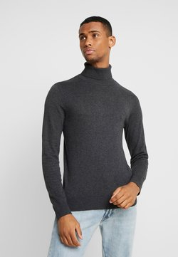 Jack & Jones - JJEEMIL ROLL NECK - Strickpullover - dark grey melange