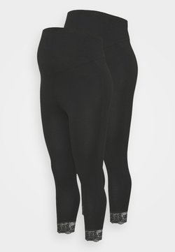 Mamalicious Curve - MLELIANA 2 PACK  - Leggings - Trousers - black