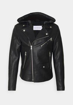 Calvin Klein Jeans - JACKET - Keinonahkatakki - black