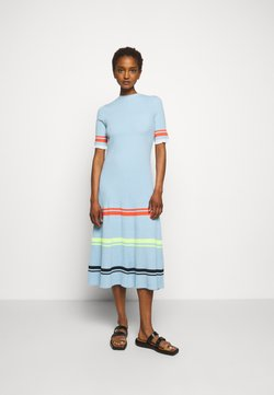 Victoria Victoria Beckham - STRIPE DETAIL SOFT SUMMER DRESS - Jerseykleid - pale blue