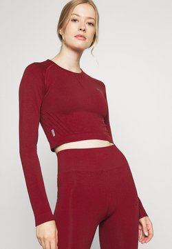 ONLY Play - ONPJAVO CIRCULAR CROPPED - Long sleeved top - sun dried tomato