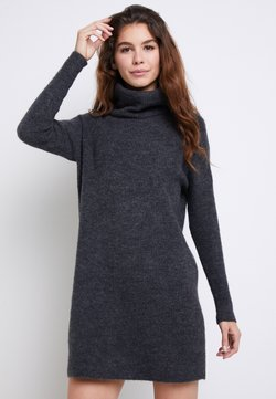 ONLY - ONLJANA COWLNECK DRESS  - Vestido de punto -  grey