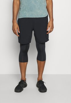 Under Armour - RUN ANYWHERE 2-IN-1 LONG - Pantalón corto de deporte - black