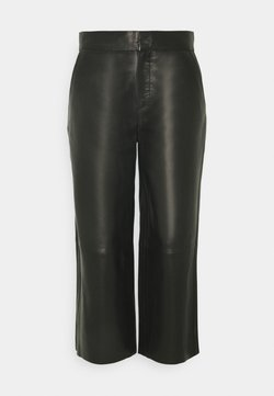 Marc O'Polo PURE - CULOTTE FORWARDED SIDE SEAMS - Kangashousut - pure black