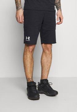 Under Armour - RIVAL TERRY SHORT - Short de sport - black