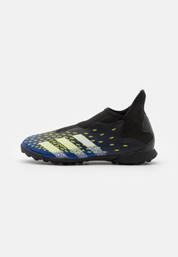 adidas Performance - PREDATOR FREAK .3 LL TF UNISEX - Botas de fútbol multitacos - core black/footwear white/solar yellow