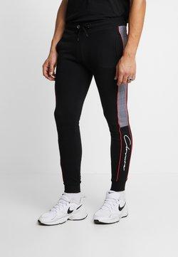 CLOSURE London - CUT SEW PIPED CHECKED - Jogginghose - black