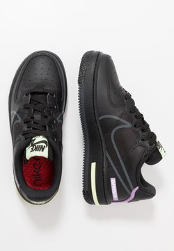 Nike Sportswear - AIR FORCE 1 REACT - Sneaker low - black/anthracite/violet star/barely volt