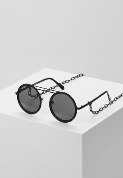 Urban Classics - CHAIN SUNGLASSES - Gafas de sol - black/black