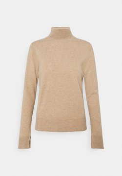 pure cashmere - SIMPLE HIGH NECK - Stickad tröja - camel