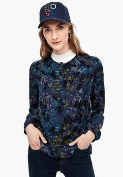 Q/S designed by - MET MOTIEFPRINT - Bluse - indigo blue