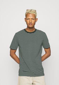 Scotch & Soda - CLASSIC CREWNECK TEE - T-shirt con stampa - black/white