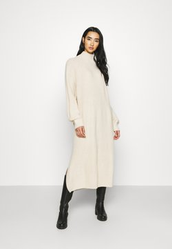 Monki - KEAN DRESS - Vestido de punto - beige dusty light