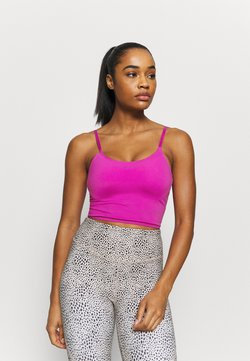 Cotton On Body - STRIKE A POSE YOGA VESTLETTE - Sport-BH mit leichter Stützkraft - magenta pop