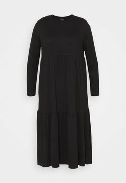 Simply Be - TIERED DRESS - Vestido ligero - black