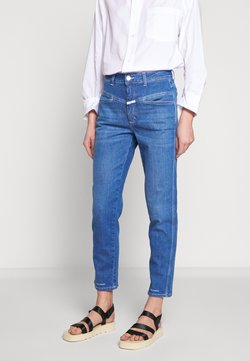CLOSED - PEDAL PUSHER HIGH WAIST CROPPED LENGTH - Jeans Relaxed Fit - mid blue