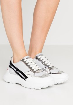 Love Moschino - SUPER HEART - Sneakers laag - grey
