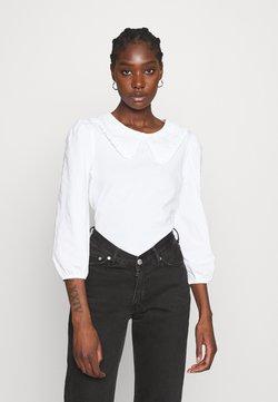 Dorothy Perkins - EMBROIDERED COLLAR  - Maglietta a manica lunga - white