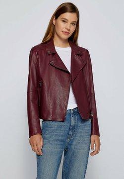 BOSS - C SALELI - Leren jas - dark red