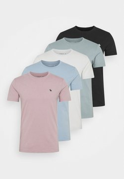 Abercrombie & Fitch - ICON CREW 5 PACK - Camiseta básica - light blue