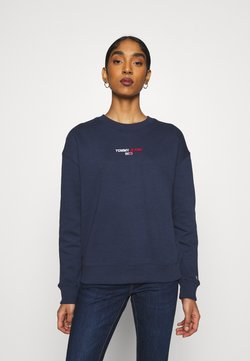 Tommy Jeans - LINEAR CREW NECK - Sweatshirt - twilight navy