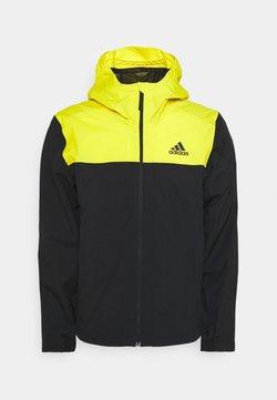 adidas Performance - Outdoorjacke - black/yellow