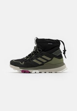 adidas Performance - TERREX COLD.RDY TRAXION SHOES MID - Hikingschuh - core black/legend green