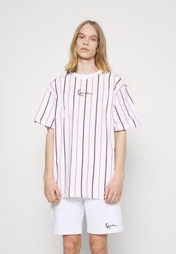 Karl Kani - SMALL SIGNATURE PINSTRIPE TEE - T-Shirt print - white