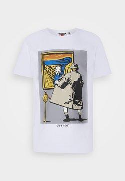 Antony Morato - PLASTIC AND RUBBER INJIEC - T-shirt con stampa - white